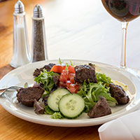 A steak tip salad