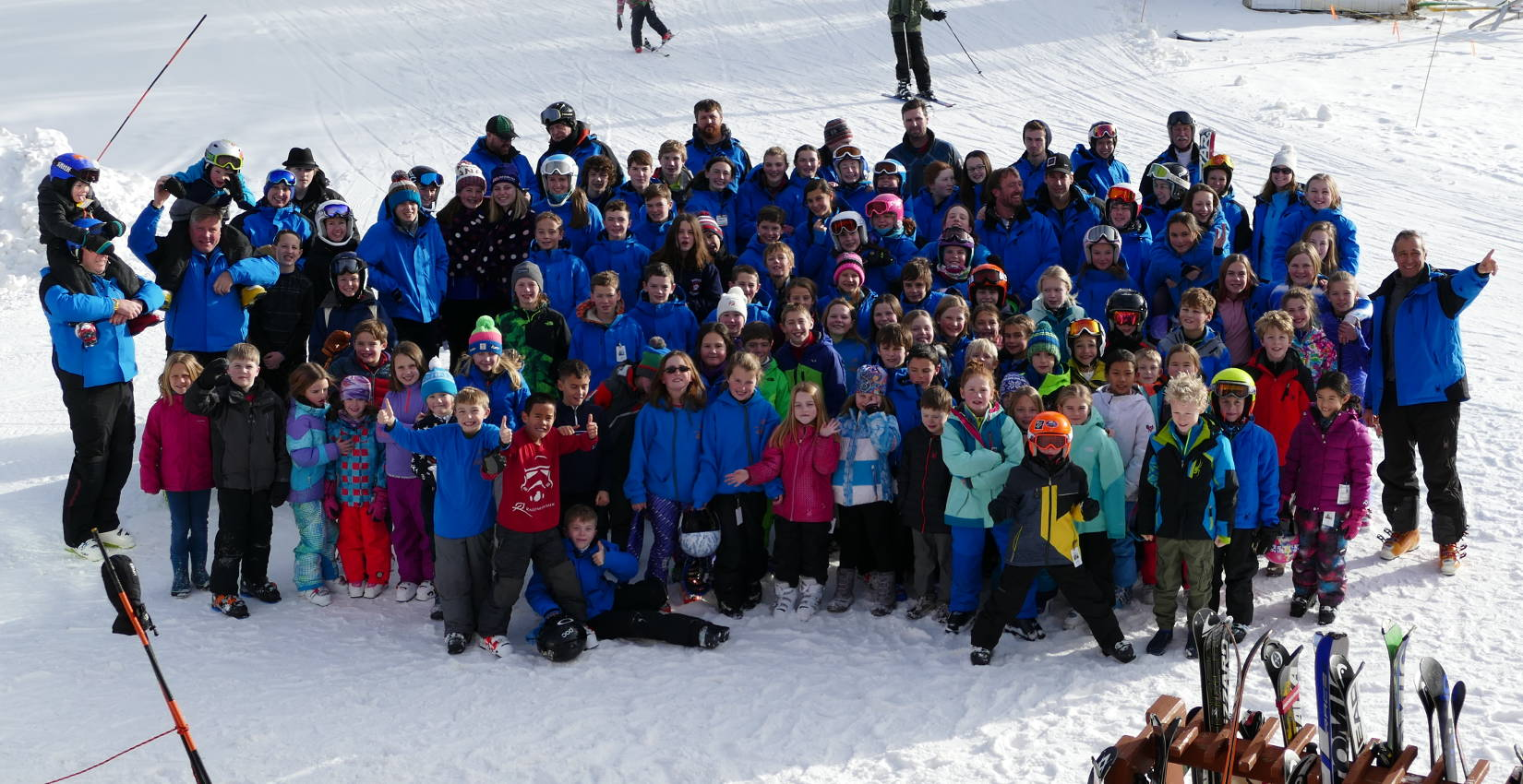 2016 / 2017 Ragged Mountain Ski Team group shot.